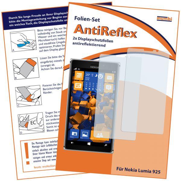Displayschutzfolie 2 Stck. AntiReflex für Nokia Lumia 925