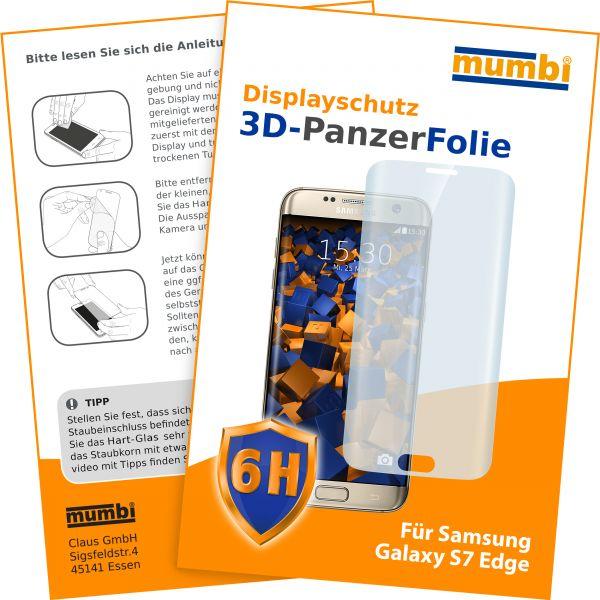 3D Panzerglasfolie 6H transparent für Samsung Galaxy S7 Edge