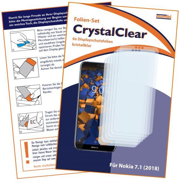 Displayschutzfolie 6 Stck. CrystalClear für Nokia 7.1