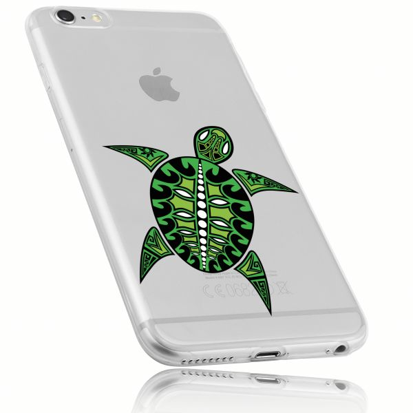 TPU Hülle Ultra Slim transparent Motiv Schildkröte für Apple iPhone 6 / 6s