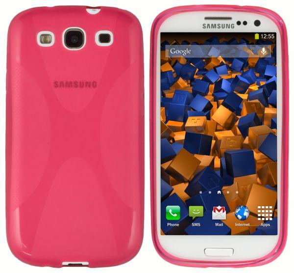 TPU Hülle X-Design pink transparent für Samsung Galaxy S3 / S3 Neo