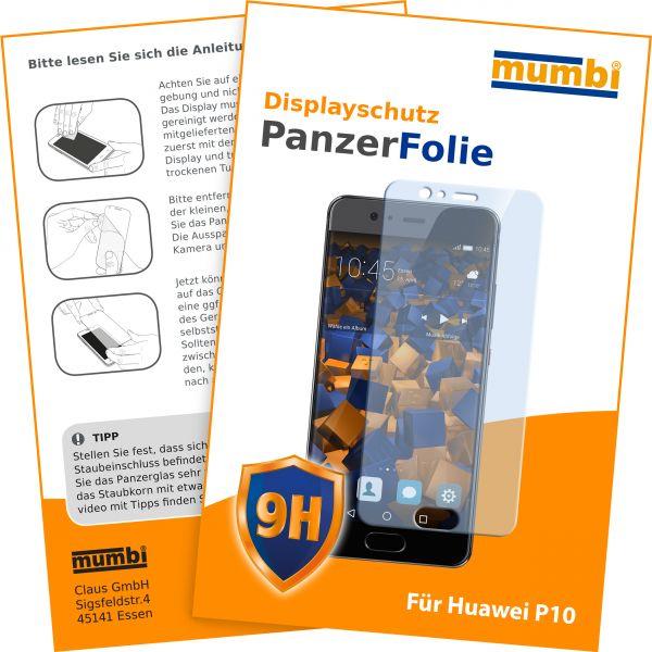 Panzerglasfolie Hartglas 9H für Huawei P10
