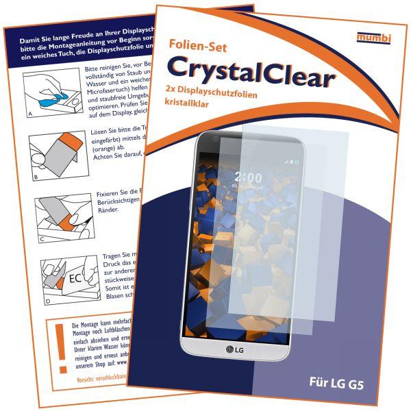 Displayschutzfolie 2 Stck. CrystalClear für LG G5
