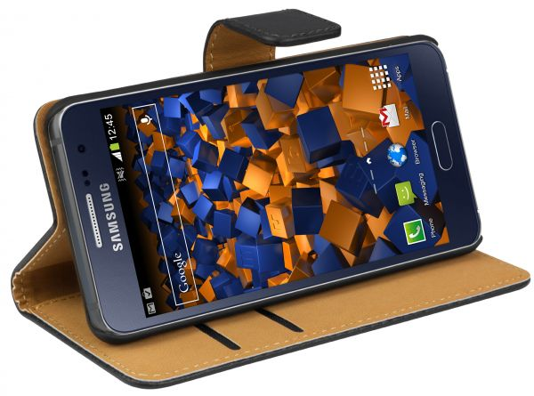 Bookstyle Tasche schwarz für Samsung Galaxy A3 (2016)