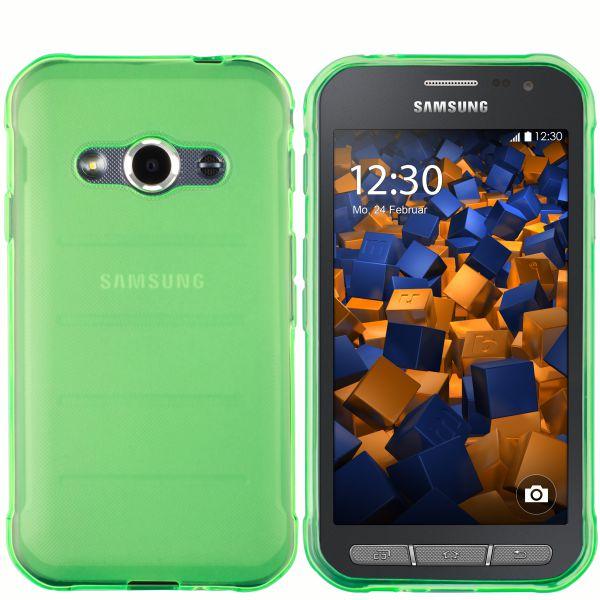 TPU Hülle grün transparent für Samsung Galaxy Xcover 3