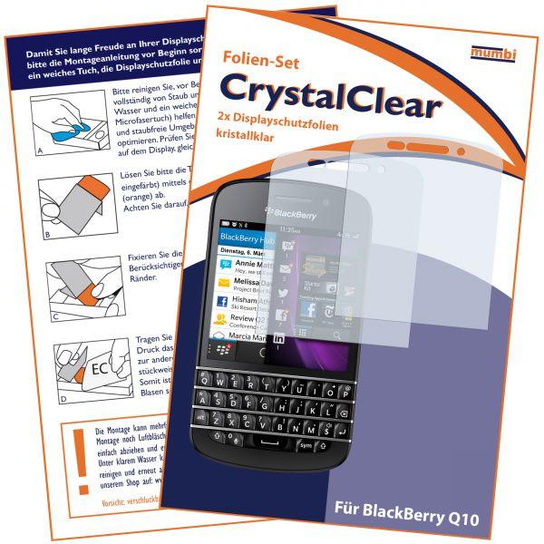 Displayschutzfolie 2 Stck. CrystalClear für BlackBerry Q10