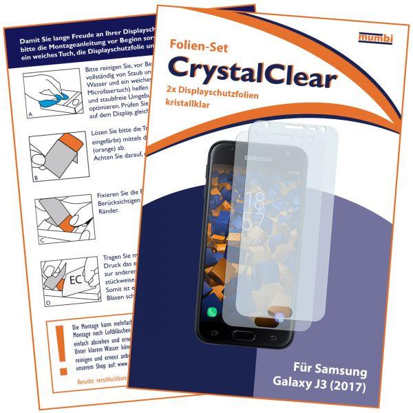 Displayschutzfolie 2 Stck. CrystalClear für Samsung Galaxy J3 (2017)