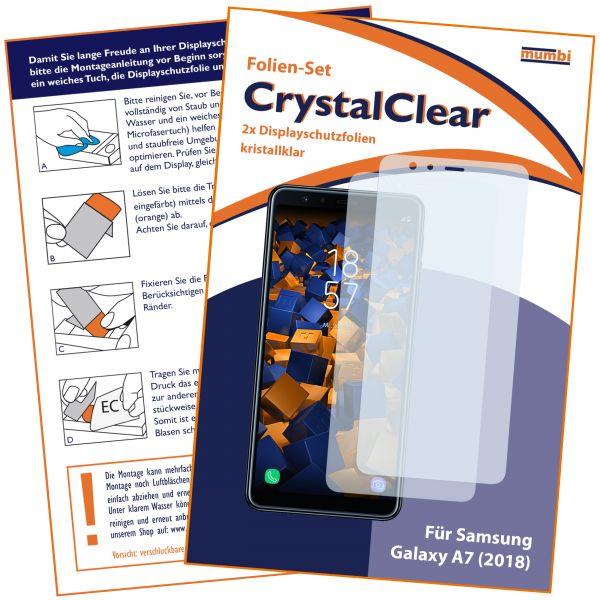 Displayschutzfolie 2 Stck. CrystalClear für Samsung Galaxy A7 (2018)