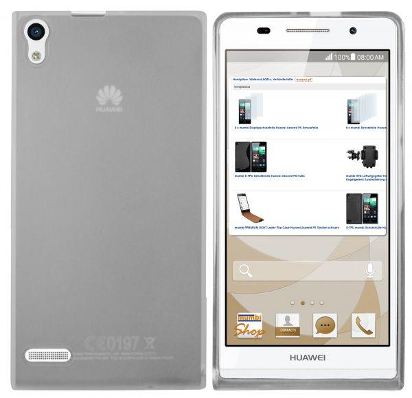 TPU Hülle weiß transparent für Huawei Ascend P6