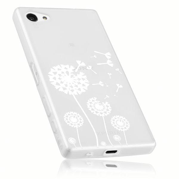 TPU Hülle weiß transparent Motiv Pusteblume für Sony Xperia Z5 Compact