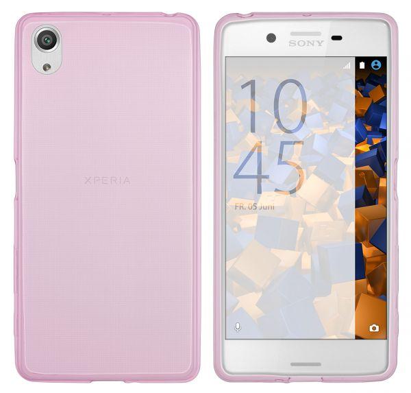 TPU Hülle Ultra Slim pink transparent für Sony Xperia X Performance