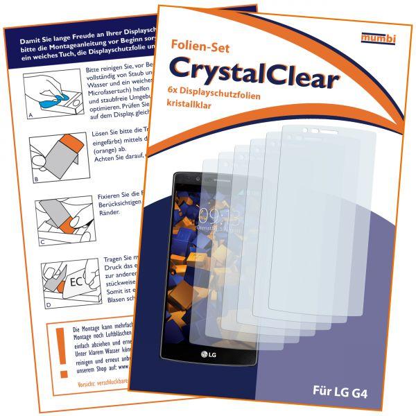 Displayschutzfolie 6 Stck. CrystalClear für LG G4