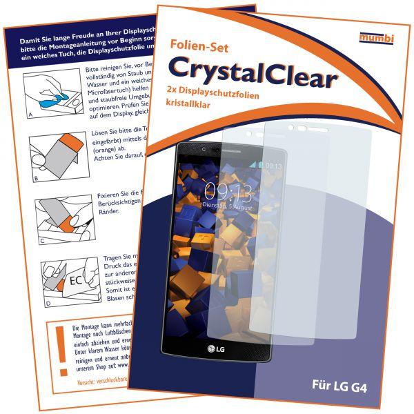 Displayschutzfolie 2 Stck. CrystalClear für LG G4