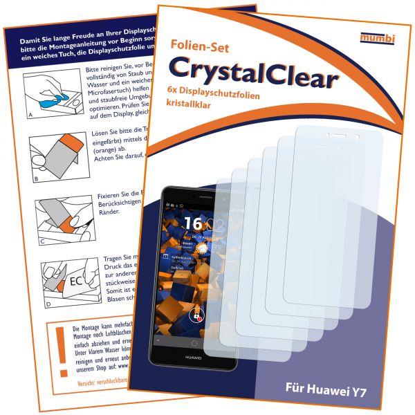 Displayschutzfolie 6 Stck. CrystalClear für Huawei Y7