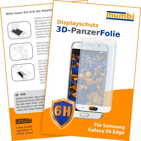 3D Panzerglasfolie 6H transparent für Samsung Galaxy S6 Edge