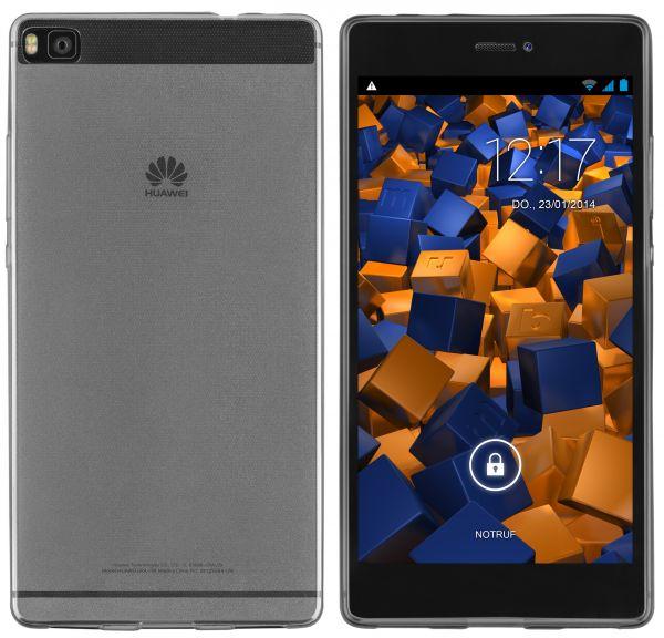 TPU Hülle Ultra Slim schwarz transparent für Huawei P8