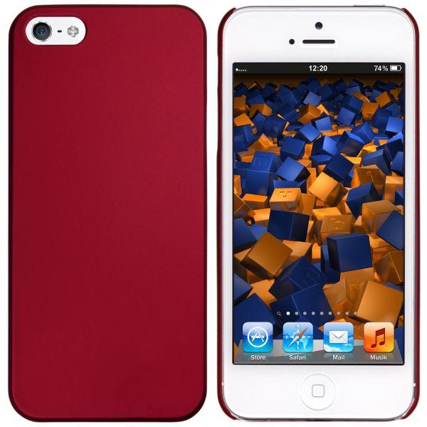 Hard Case Hülle rot für Apple iPhone SE / 5 / 5s