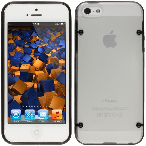 Hard Case Hülle transparent schwarz für Apple iPhone SE / 5 / 5s