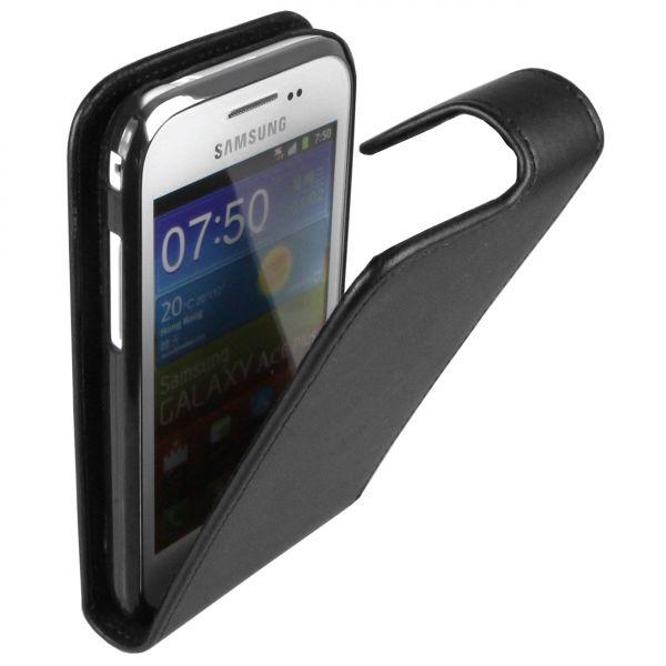 Flip Case Tasche schwarz für Samsung Galaxy Ace Plus