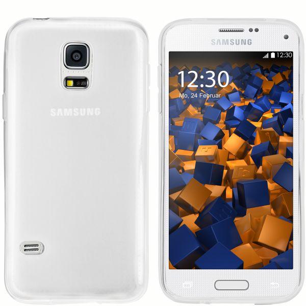 TPU Hülle weiß transparent für Samsung Galaxy S5 Mini
