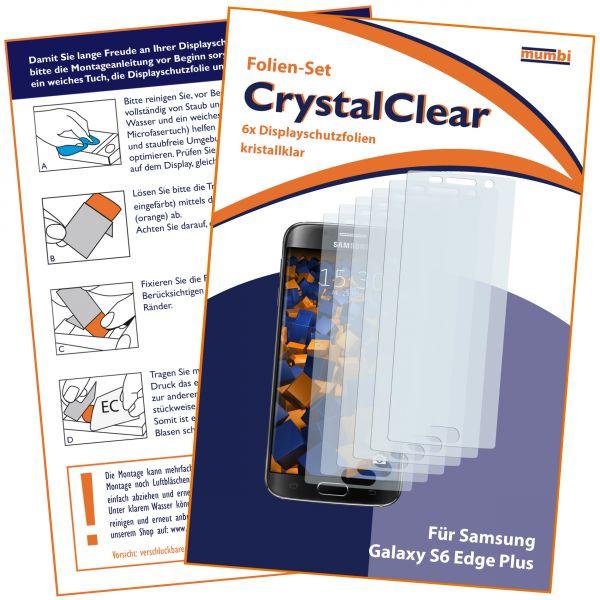 Displayschutzfolie 6 Stck. CrystalClear für Samsung Galaxy S6 Edge Plus