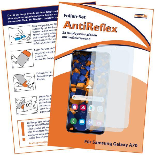 Displayschutzfolie 2 Stck. AntiReflex für Samsung Galaxy A70