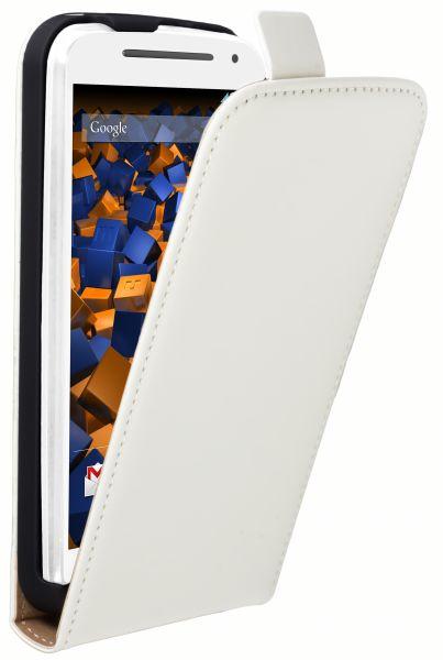 Flip Case Tasche weiß für Motorola Moto G 2. Generation