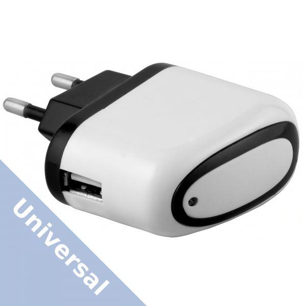 Universal Ladegerät Ladeadapter 1000 mA Steckernetzteil - USB A Buchse weiß
