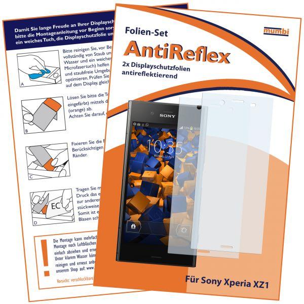 Displayschutzfolie 2 Stck. AntiReflex für Sony Xperia XZ1