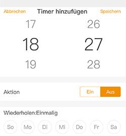 Timer der mumbi WLAN-Steckdosen App