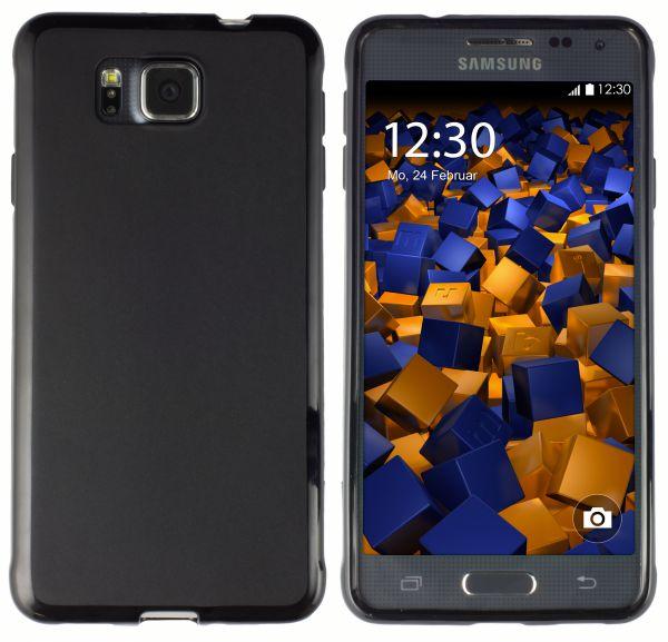 TPU Hülle schwarz für Samsung Galaxy Alpha