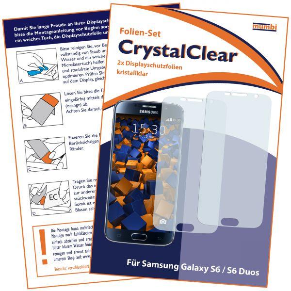 Displayschutzfolie 2 Stck. CrystalClear für Samsung Galaxy S6 / S6 Duos