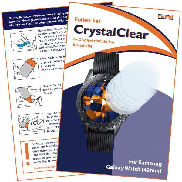 Displayschutzfolie 6 Stck. CrystalClear für Samsung Galaxy Watch (42mm)