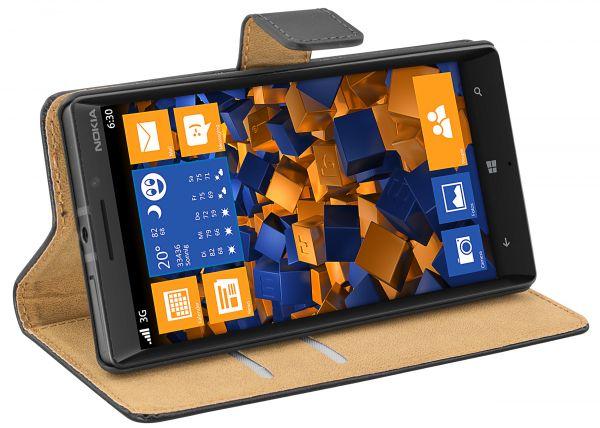 Bookstyle Tasche schwarz für Nokia Lumia 930