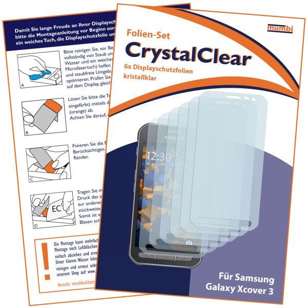 Displayschutzfolie 6 Stck. CrystalClear für Samsung Galaxy Xcover 3