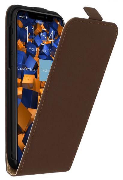 Flip Case Tasche braun für Apple iPhone XS / X