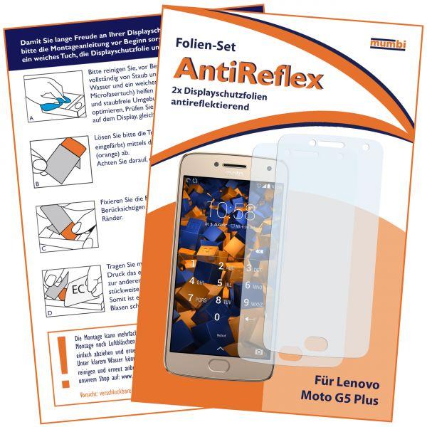 Displayschutzfolie 2 Stck. AntiReflex für Motorola Moto G5 Plus