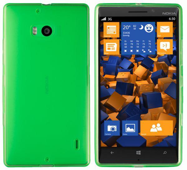 TPU Hülle transparent grün für Nokia Lumia 930