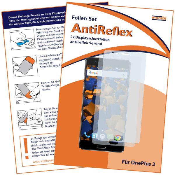 Displayschutzfolie 2 Stck. AntiReflex für OnePlus 3 / 3t