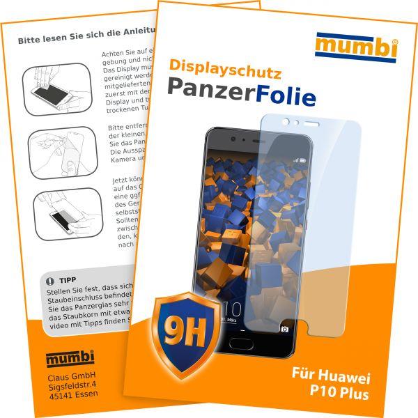Panzerglasfolie Hartglas 9H für Huawei P10 Plus