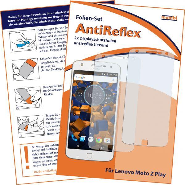 Displayschutzfolie 2 Stck. AntiReflex für Lenovo Moto Z Play