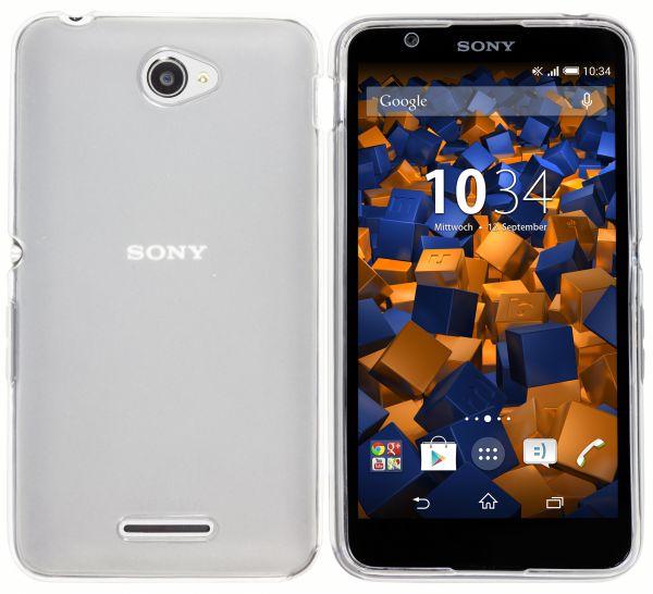 TPU Hülle weiß transparent für Sony Xperia E4