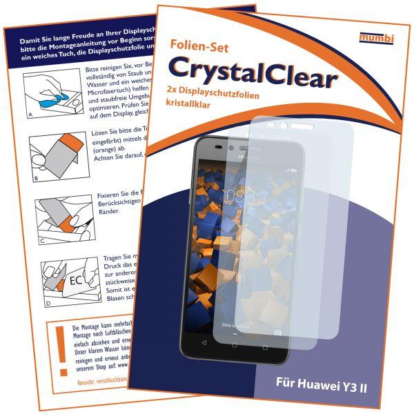 Displayschutzfolie 2 Stck. CrystalClear für Huawei Y3 II