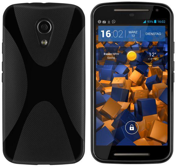 TPU Hülle X-Design schwarz für Motorola Moto G 2. Generation