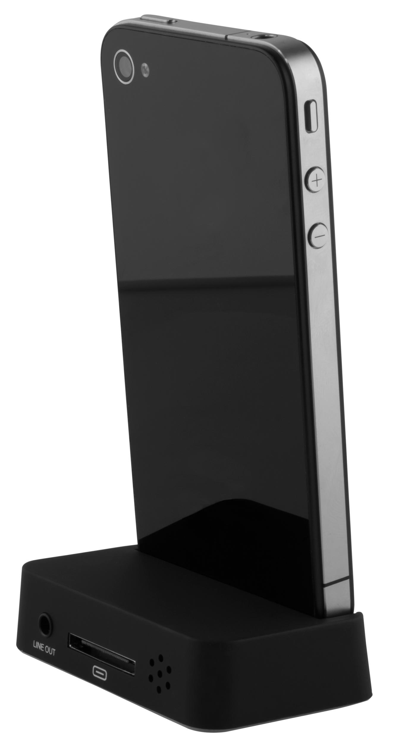 Dockingstation + USB Datenkabel schwarz inkl. Line OUT für Apple iPhone 4 /  4s