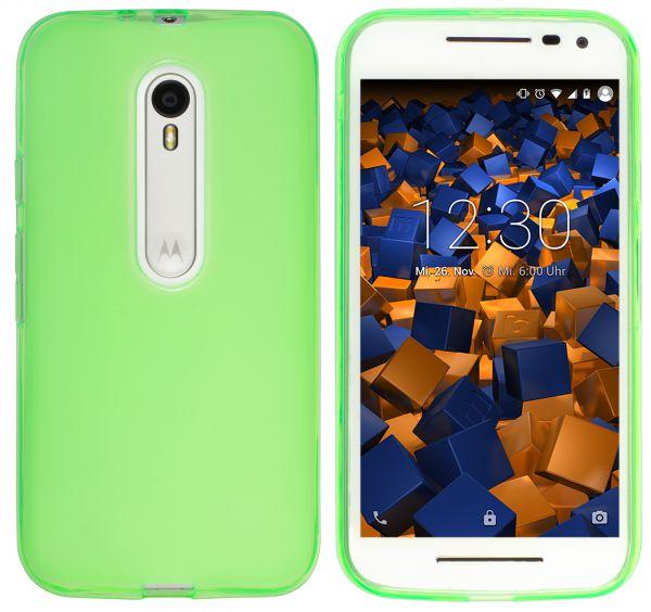 TPU Hülle transparent grün für Motorola Moto G 3. Generation