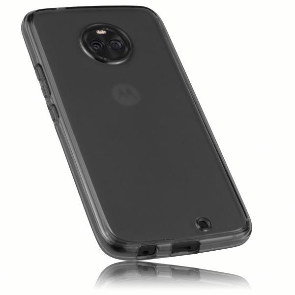 TPU Hülle schwarz transparent für Motorola Moto X4