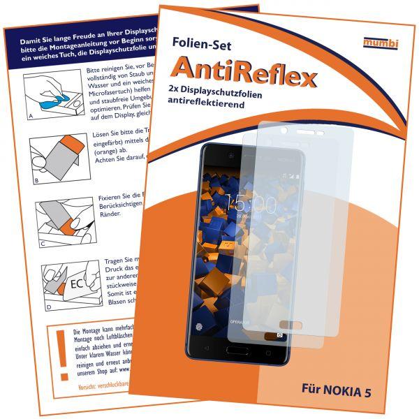 Displayschutzfolie 2 Stck. AntiReflex für Nokia 5