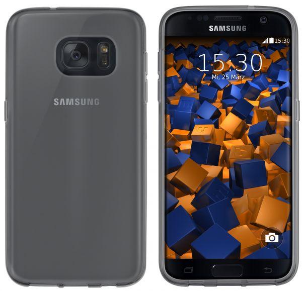 TPU Hülle schwarz transparent für Samsung Galaxy S7
