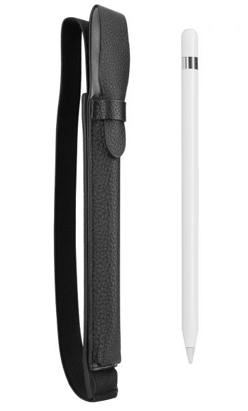 Apple Pencil Halter schwarz für Apple iPad (2018), iPad Pro 9,7 Zoll, 10,5 Zoll und 12,9 Zoll